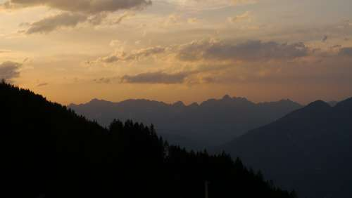 Mountains By Amin Kalbasi Sunset Tirol