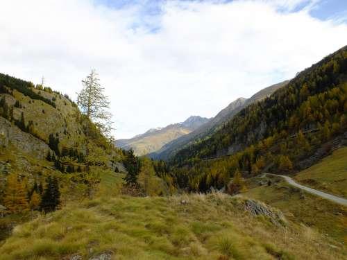Mountains Switzerland Green Autumn Alpine