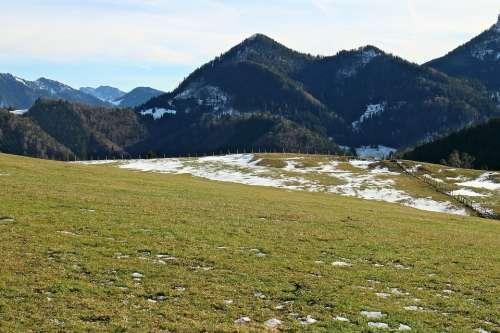 Mountains Alpine Meadow Alpine Pasture