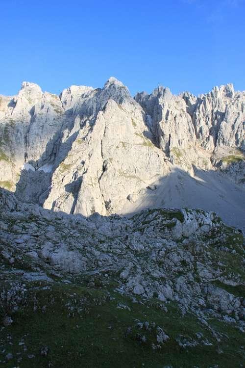 Mountains Wilderkaiser Alpine Kaiser Mountains