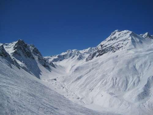 Mountains Winter Skiing