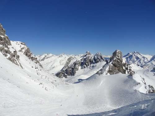 Mountains Snow Arlberg Imperial Weather Skiing