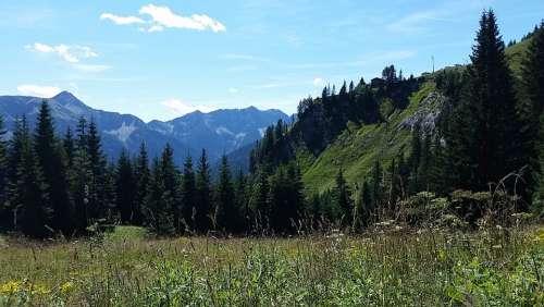 Mountains Mountain Landscape Nature Landscape Idyll