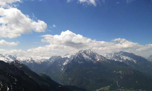 Mountains Alpine Mountain Landscape Panorama