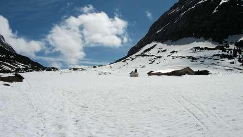 Mountains Snow Winter Alpine Karwendel Austria
