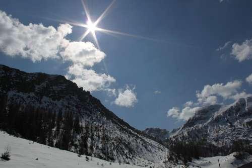 Mountains Alpine Mountain Landscape Snow Austria