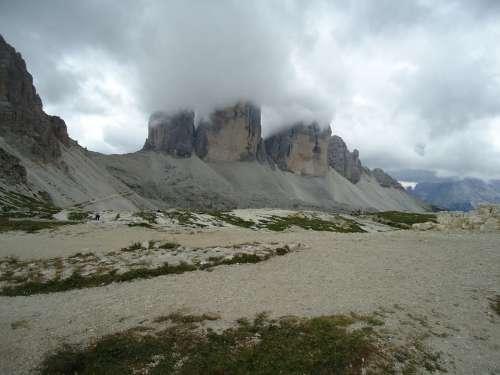 Mountains Hiking Adventure Landscape Clouds
