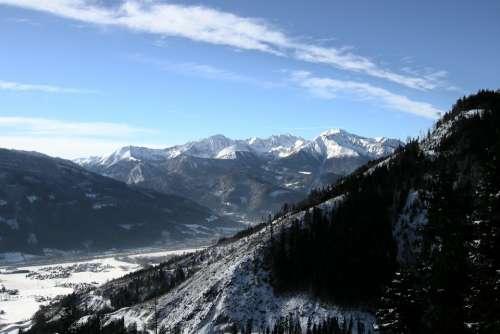 Mountains Winter Austria Alpine