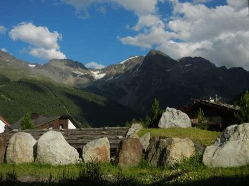 Mountains Alpine Sky Clouds