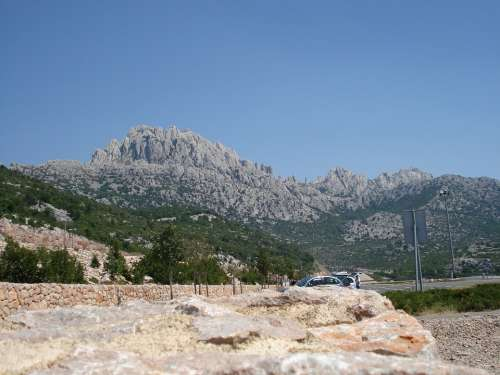 Mountains Mountain Croatia Rock Coast Europe Rest