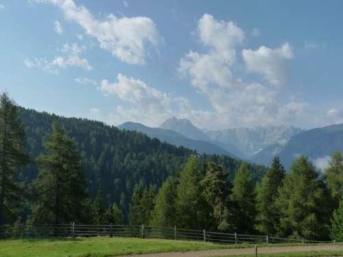 Mountains Hiking South Tyrol Fence Tyrol