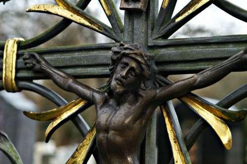 Mourning Death Cemetery Cross Faith