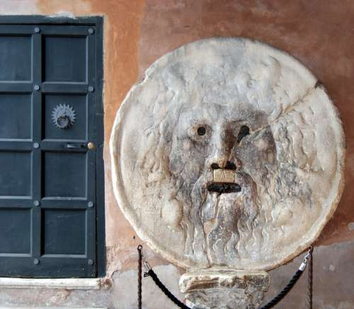 Mouth Truth Sculpture Rome Italy