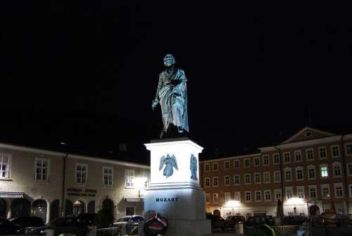 Mozart Wolfgang Amadeus Salzburg Austria Statue