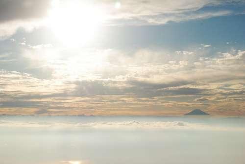 Mt Fuji Japan Cloud San Fly