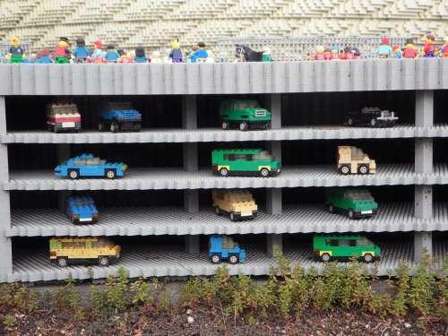 Multi Storey Car Park Legoland Lego Blocks Assembled