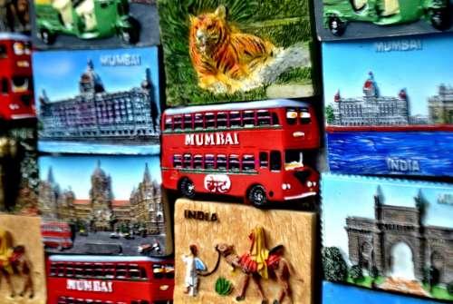 Mumbai Market Wall Deco India Asia