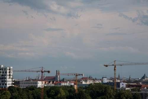 Munich Bavaria Cranes Boom Town Architecture