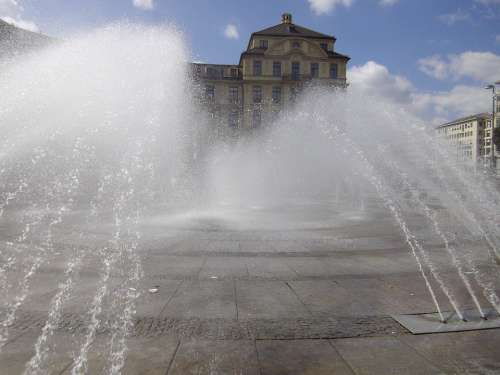 Munich Stachus Fountain Bavaria