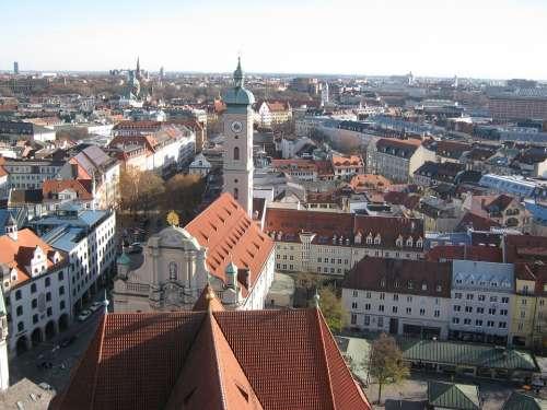 Munich Church Towers Bavaria Church Steeples