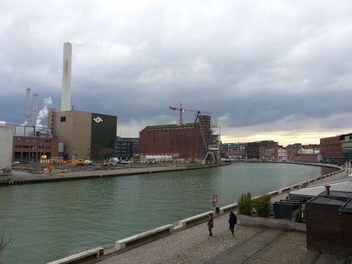 Münster Port Industry Building Channel Water
