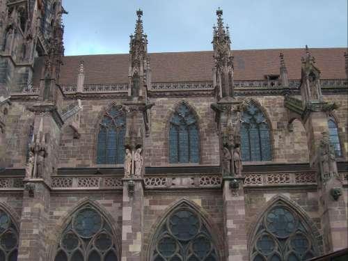 Münster Gothic Building Architecture Freiburg