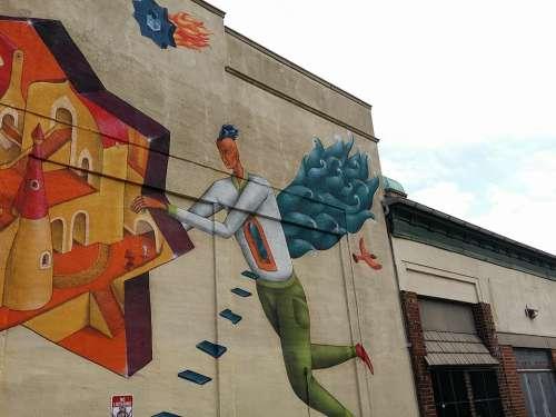 Mural Art Building Street Art City Cities Urban