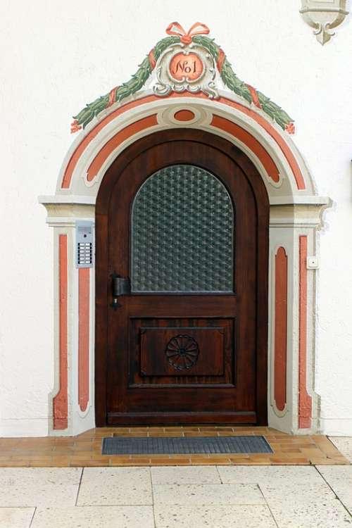 Mural Ornament Facade Input Front Door Door