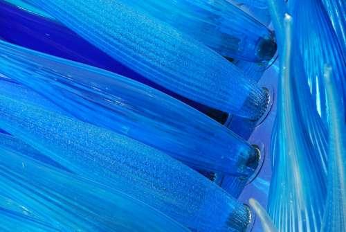 Murano Glass Blue Sculpture Venice Cenedese