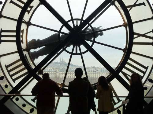 Musée D'Orsay Paris Clock Shadow Play