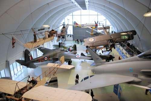 Museum Aircraft Vintage Propeller Bi-Wing Display