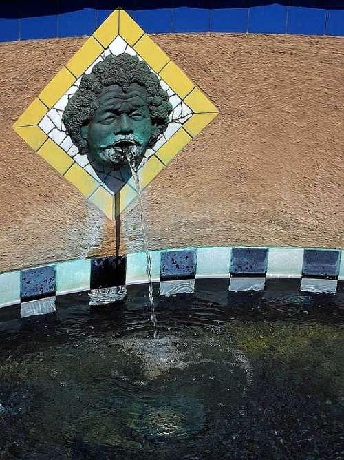 Museum Near Fountain Architecture