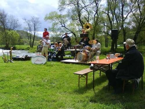 Music Jazz Musician Instruments Jagst River