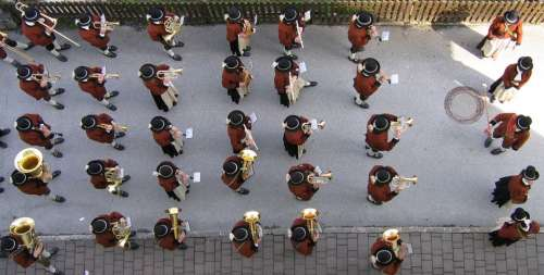 Music Band Band Uttendorf Top View Onslaught