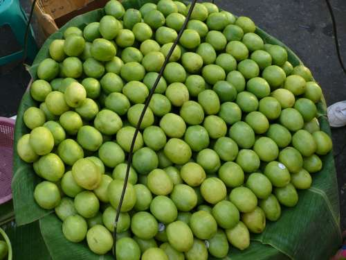 Myanmar Yangon Market Fruits