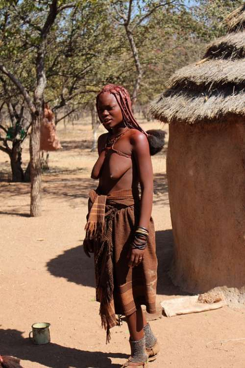 Namibia Woman Himba Nature African Africa Black