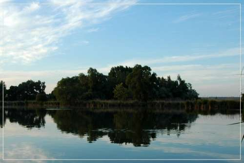 Naplás Lake Lake Waterfront Dusk Mirror