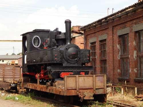 Narrow-Gauge Railway Train Wagons Locomotive Rails