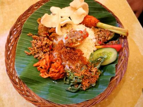 Nasi Padang Food Dish Indonesian Cuisine