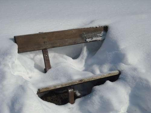 Nature Bench Snow