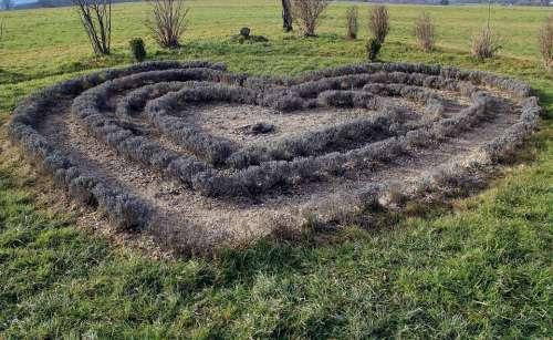 Nature Garden Heart Meadow Grass Symbol Love