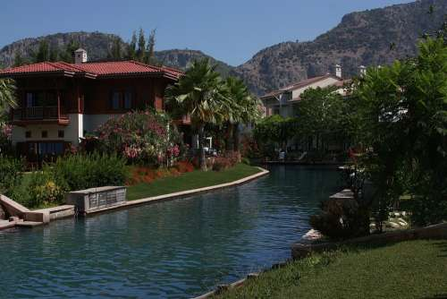 Nature River Canal Mountains Turkey Summer Water