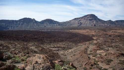 Nature Volcano Pico Del Teide Lava Flow Cold