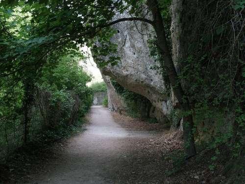Nature Mountain Trail Basin Spain Rock