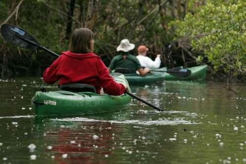 Nature Pristine Waters Calm Kayaking Canoeing