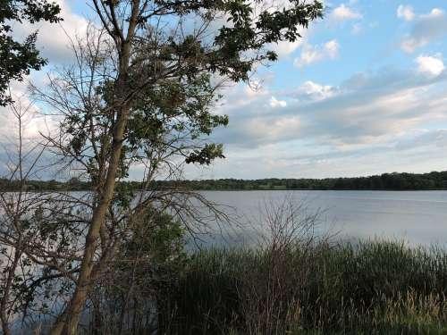 Nature Lake Minnesota Landscape Water Summer Sky