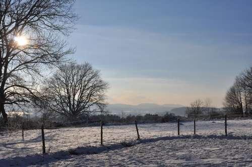Nature Panorama Landscape Mountains Sky Blue