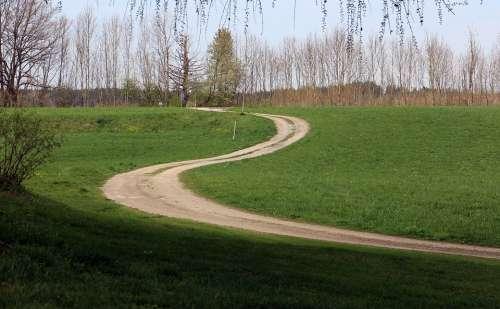 Nature Trail Meadow Away Swinging Hiking Walk