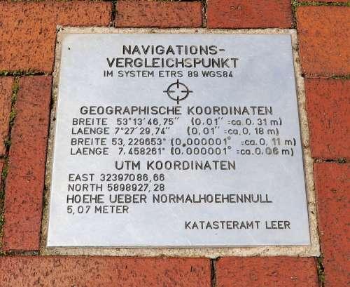Navigation Point Of Comparison Coordinates Surveying