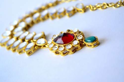 Necklace Indian Jewelry Gold Luxury Fashion